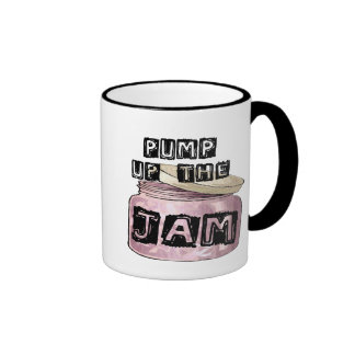 Pump Up the Jam Ringer Coffee Mug