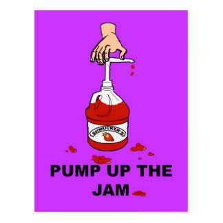 Pump Up The Jam Postcard
