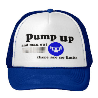 Pump Up Weightlifting Cap Trucker Hat