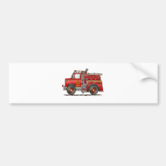 Pumper Rescue Fire Truck Firefighter Bumper Sticker