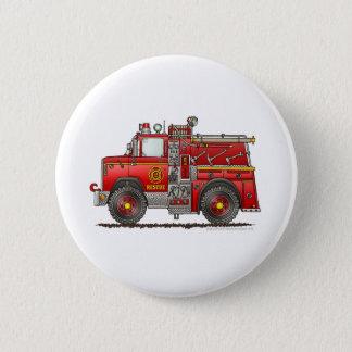 Pumper Rescue Fire Truck Firefighter Button