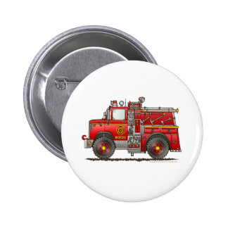 Pumper Rescue Fire Truck Firefighter Button