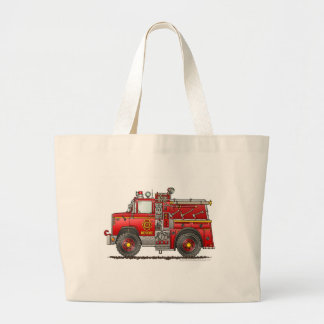 Pumper Rescue Fire Truck Firefighter Large Tote Bag