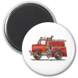Pumper Rescue Fire Truck Firefighter Fridge Magnet