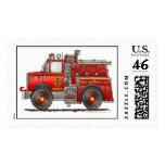 Pumper Rescue Fire Truck Stamps