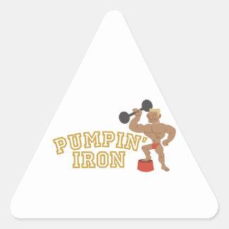 Pumpin Iron Triangle Sticker