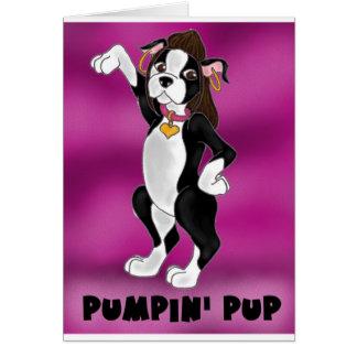 Pumpin' Pup Greeting Card