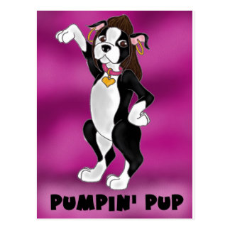 Pumpin' Pup Postcard