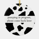 Pumping in Progress Door Hanger Christmas Tree Ornament