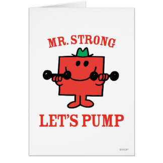 Pumping Iron With Mr. Strong Card