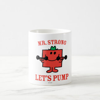 Pumping Iron With Mr. Strong Classic White Coffee Mug