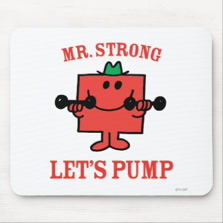 Pumping Iron With Mr. Strong Mouse Pad