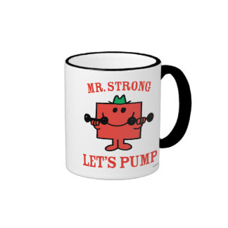 Pumping Iron With Mr. Strong Ringer Coffee Mug
