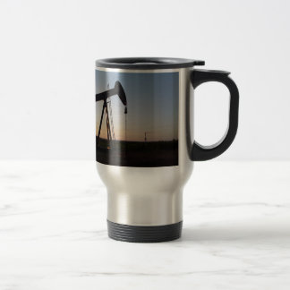 Pumping Unit in West Texas 15 Oz Stainless Steel Travel Mug