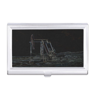 Pumping Unit Outlined Image Business Card Holder