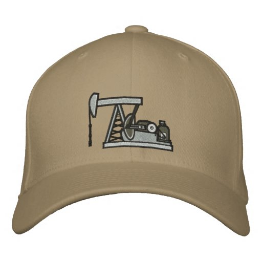 Pumpjack Embroidered Baseball Hat