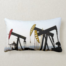 Pumpjacks in Taft California Lumbar Pillow