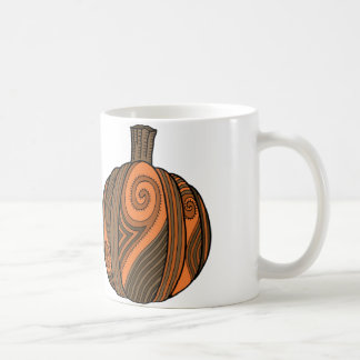 Pumpkin Abstract Design Coffee Mug