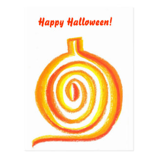 Pumpkin Abstract, Happy Halloween! Post Cards