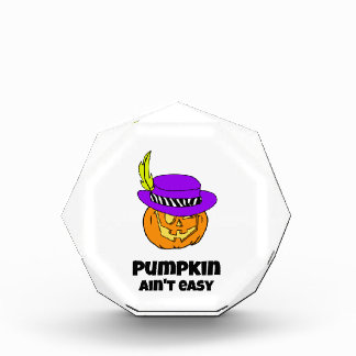 Pumpkin Ain't Easy Pimp Jack-o-lantern Acrylic Award