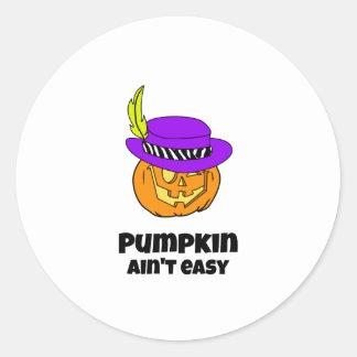 Pumpkin Ain't Easy Pimp Jack-o-lantern Classic Round Sticker
