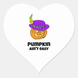 Pumpkin Ain't Easy Pimp Jack-o-lantern Heart Sticker