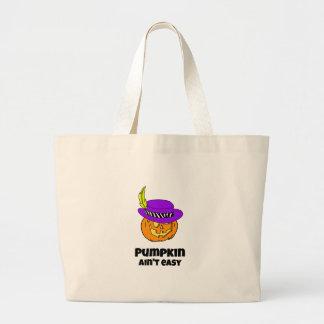 Pumpkin Ain't Easy Pimp Jack-o-lantern Large Tote Bag