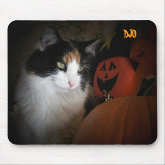 Pumpkin and Calico Mouse Pad