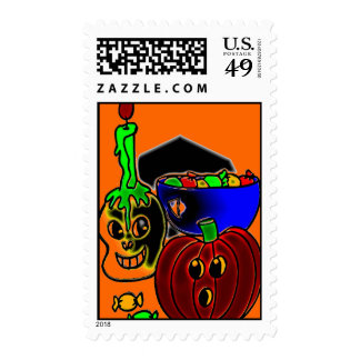 PUMPKIN AND CANDY STAMP