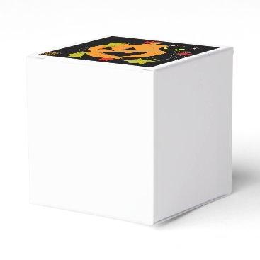 Halloween Themed Pumpkin and Cat 1 Favor Box