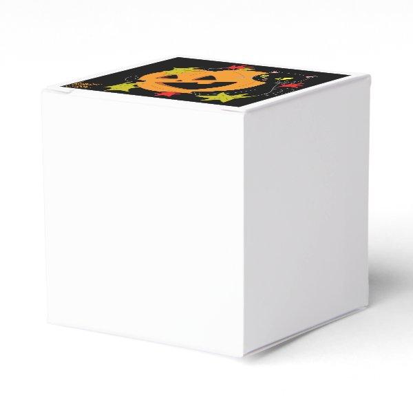 Pumpkin and Cat 1 Favor Box