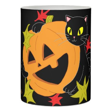 Pumpkin and Cat 1 Flameless Candle