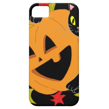 Pumpkin and Cat 1 iPhone SE/5/5s Case