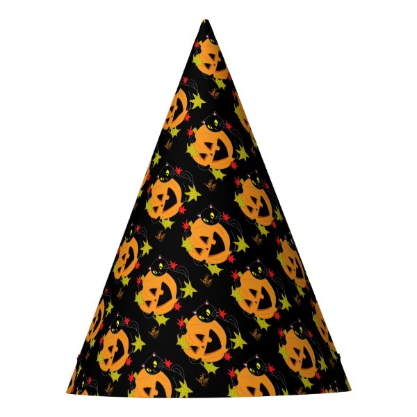 Pumpkin and Cat 1 Party Hat
