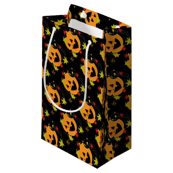 Pumpkin and Cat 1 Small Gift Bag
