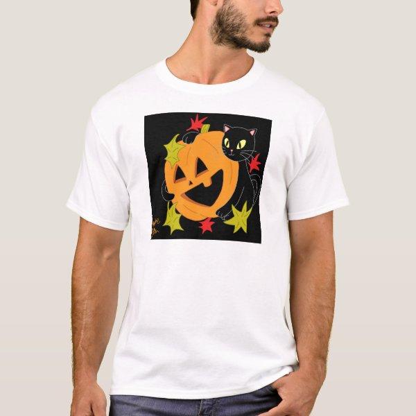 Pumpkin and Cat 1 T-Shirt