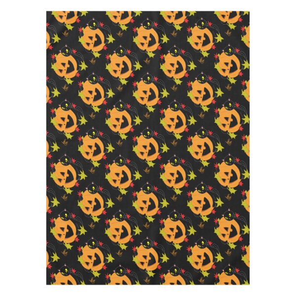 Pumpkin and Cat 1 Tablecloth