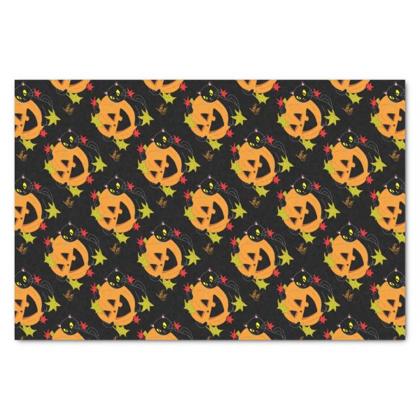 Pumpkin and Cat 1 Tissue Paper