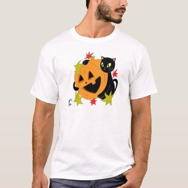 jasmineflynn Pumpkin and Cat 2 T-Shirt