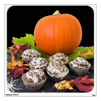 Pumpkin and Cupcakes Wall Decal
