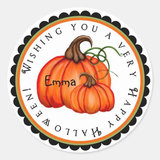 Pumpkin and Gourds Halloween Treat Stickers