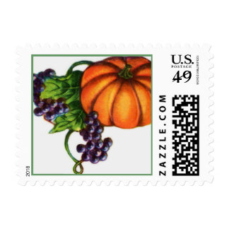 Pumpkin and Grapes Postage