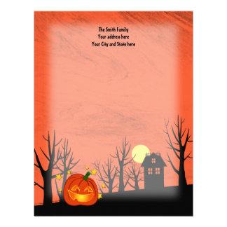 Pumpkin and Haunted House Letterhead