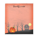 Pumpkin and Haunted House Notepads