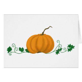 Pumpkin and Ivy Card