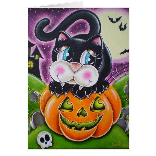 Pumpkin and Kitty Card