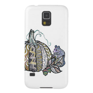 Pumpkin and Mouse - Pen and Ink Design Case For Galaxy S5