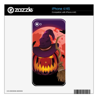 Pumpkin and Red Moon iPhone 4 Skins