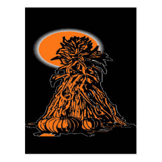 PUMPKIN AND SCARE CROW POSTCARD