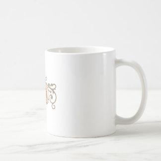 PUMPKIN AND SCROLL BORDER COFFEE MUG